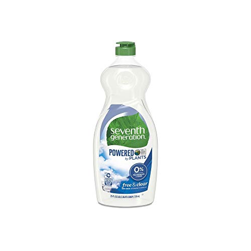 Seventh Generation Natural Dishwashing Liquid, Free-and-Clear (25 Ounces 6-Pack)