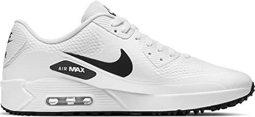 Nike Herren AIR MAX 90G Golfschuh, Weiß/Schwarz, 43 EU
