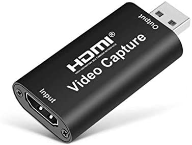 Audio Video Capture Cards – HDMI to 1080p USB2.0 Record via DSLR Camcorder Action Cam and PC for Gaming Streaming Live Broadcasting High Teaching