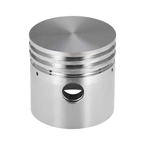 Repuesto de compresor de aire de aleación de aluminio de tono plateado, 51 mm x 50 mm