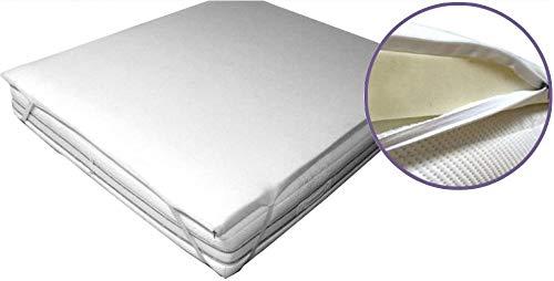 INmaterassi – Topper Correttore in Memory Foam Alto 6 cm per Materasso 120x190 Una Piazza e Mezza con Rivestimento sfoderabile