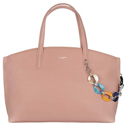 David Jones - Dames Handtas Draagtas Groot - Hengseltas Schoudertas PU Leer - Large Shopper Tote Bag - Crossbodytas Veel Zakken Vakken - Werk School Kantoor - Grote Capaciteit Mode - Roze