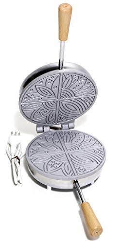 arterameeEisen elektrischer Pizzaschneider aus Aluminium mit Saugnäpfen