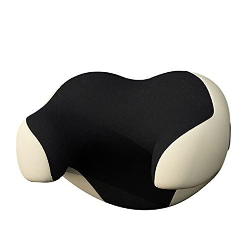 Qagazine Almohada para reposacabezas de asiento de coche, protector de cuello en forma de U, cojín de espuma viscoelástica suave y transpirable para niños y adultos