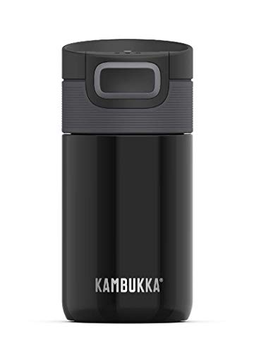 Kambukka Etna Thermobecher - 300 ML - Pitch Black - 3 in 1 lid - Snapclean® Technology
