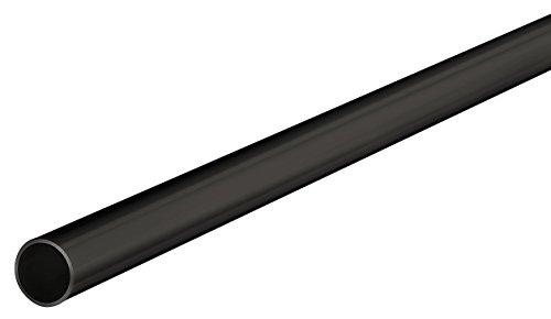 Gedotec Schrankrohr Metall Kleiderstange RUND Schrank-Stange 2500 mm Seiten-Wandmontage | Stahl schwarz beschichtet | Möbelrohr Ø 18 mm | 1 Stück - Möbelstange für die Garderobe & Kleider-Schrank