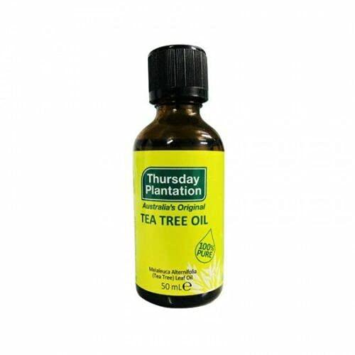 Thursday Plantation Tea Tree Pure Oil 50ml A allevia MINORI tagli, ustioni, abrasioni, brufoli, Punture e punture, con uno nodo REGALO - 1 PCS