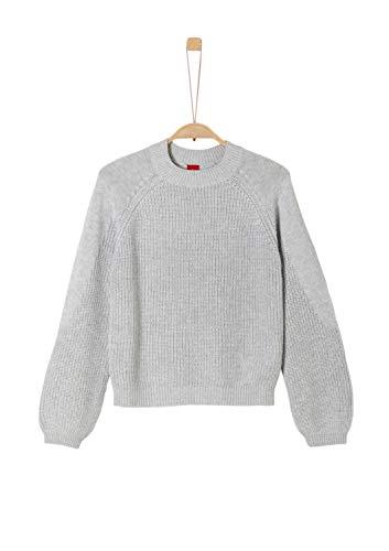 s.Oliver Mädchen 66.909.61.2301 Pullover, Grau (Grey Melange 9400), 164 (Herstellergröße: L/REG)
