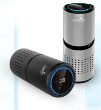 PranaVital Smart Multi functional Car Air Purifier Gesture control (no need to touch), PM 2.5 Display, HEPA filter H1...