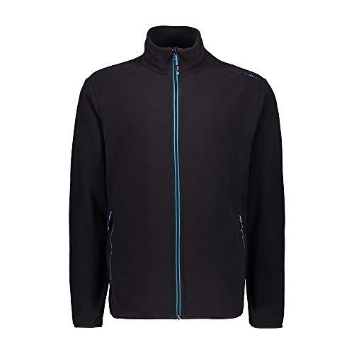 CMP Herren Lightweight Fleece with Oeko-TEX Standard 100 Certification Fleecejacke, Anthracite-Light Blue, 56