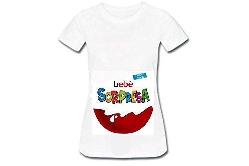 MACEDONIA di MARMO RICCARDO ditta individuale T-Shirt Maglietta Premaman con Stampa Kinder Sorpresa...