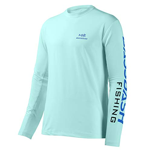 Bassdash - Camiseta de manga larga para hombre, protección solar UV UPF 50+ (Seafoam, XXXL)