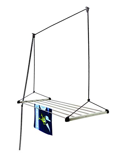 Homwell Stainless Steel Ceiling Clothes Hangers with UV Protected Nylon Rope