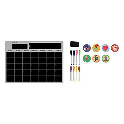 Camisin Agenda semanal mensual de tamaño A3, para tabla, borrado en seco, para nevera, con mensaje en color negro