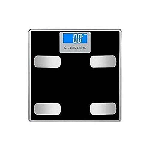 LKNJLL Smart Bluetooth Digital Fat Scale That Works with Smartphone App Shows Up to 23 Measurements, Up to 400lbs,Rechargeable Bathroom Digital Weight Scale
