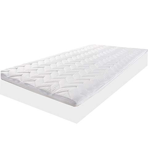 LILENO HOME Matratzentopper 90x200 cm - viscoelastischer Matratzen Topper aus Memory Foam (Dicke 8 cm) geeignet für Kaltschaum Matratzen und Boxspringbett - TopCool® 90x200 Matratzenauflage