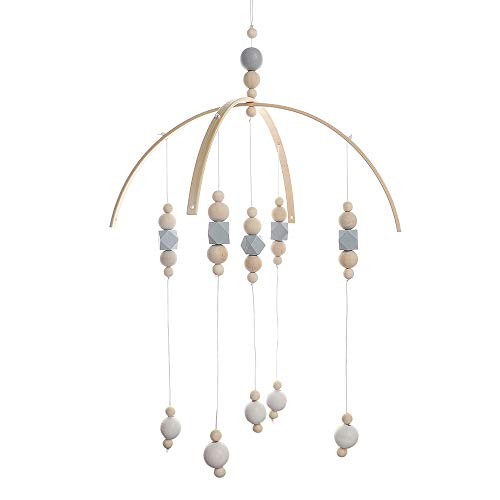 Nordic Style Baby Bed Bell,Rotate Bracket Hanging Bell Ornament Pendant BELUPAI Wooden Wind Chime