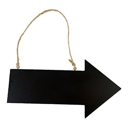 VORCOOL Hölzerne Tafel Zeichen Pfeil hängende Zeichen Wiederverwendbare Kreide Zeichen Richtung Tafel Einweihungsparty Geschenk (schwarz)
