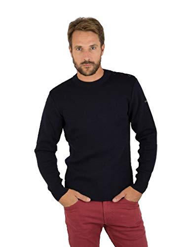"""Armor Lux, Pull Marin Uni """"Fouesnant"""" Homme, Bleu, Medium (Taille fabricant: 3)"""