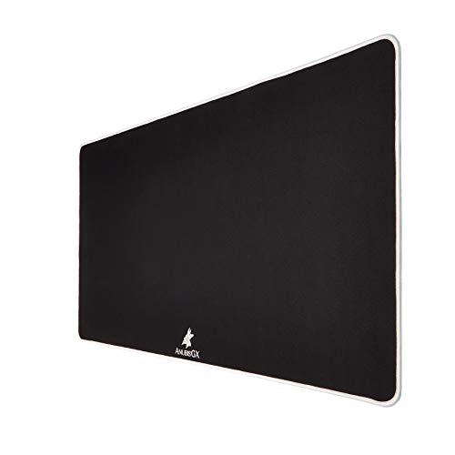 AnubisGX (39 Color/Size Options) Gaming Mouse Pad (XL: 36x18), Black Pad with White Stitching. Best Premium Waterproof Non RGB Computer Gaming XL Desk Pad Mat, Large Non-Slip Gamer Mousepad