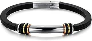 Fashion titanium steel silicone bracelet