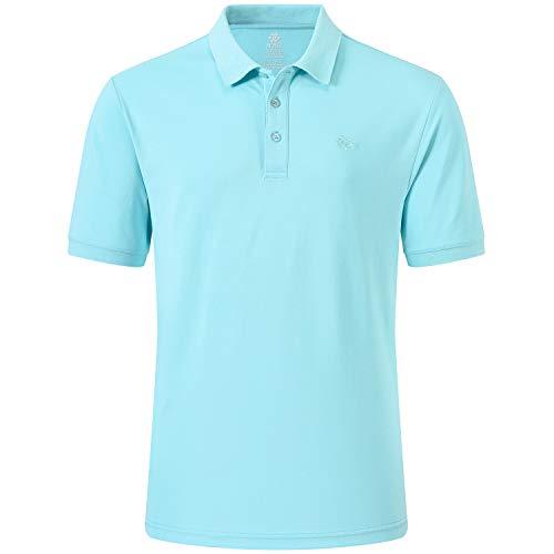 MoFiz Polo Hombre Camisa Manga Corta Verano Algodón Polo Trabajo Deportivo Transpirable Golf Tops