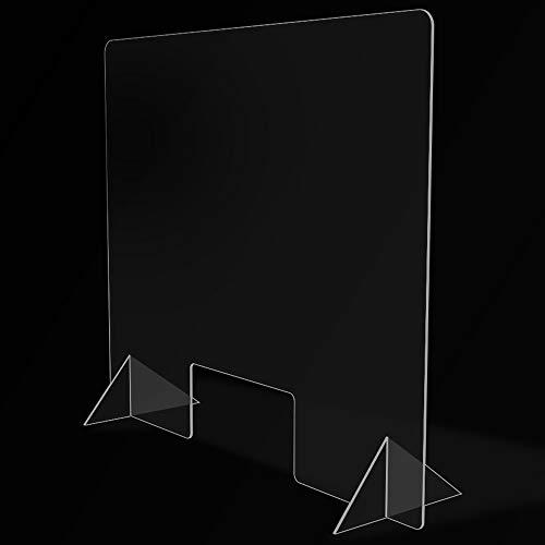 Mampara de Protección para mostradores, Policarbonato/Metacrilato Compacto 3-4 mm, Varias medidas (70cm x 50cm)