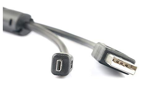 Zhice Cámara UC-E6, UC-E16 UC-E23, Cable de Transferencia de Fotos de Cable USB UC-E17 (Color : Black, Size : 1.5m)