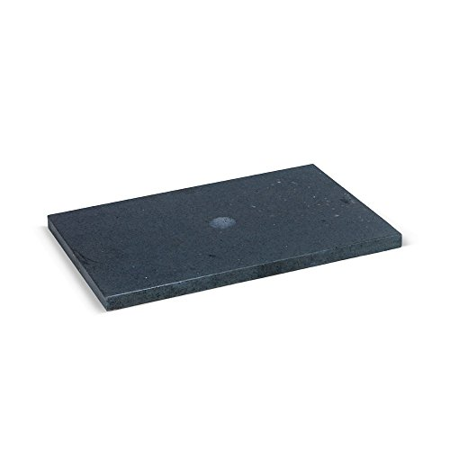 wohnfreuden Flußstein Waschtischplatte Zen anthrazit ✓ Naturstein-Platte für Waschbecken ✓ indonesischer Flußstein Hochglanz poliert ✓ Unterbau 60x40x2,5 cm