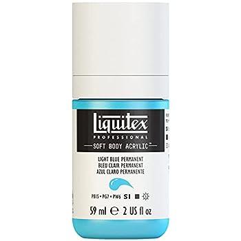Liquitex Professional Soft Body Acrylic Paint 2-oz bottle Light Blue Permanent