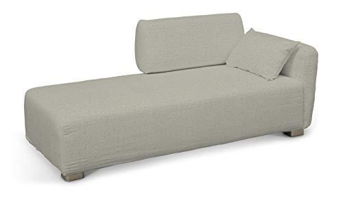 Dekoria Mysinge Recamiere Sofabezug Husse passend für IKEA Modell Mysinge grau-beige