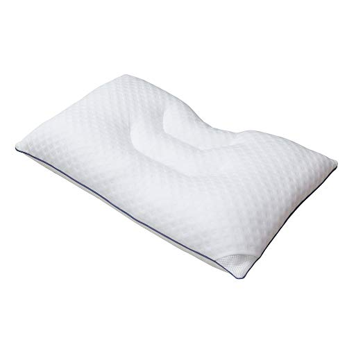 MUANKIITETA Cervical Pillow for Neck Pain, Side Sleepers, Pillow for Sleeping, Super Soft Down Microfiber Alternative, Premium Quality Bed Pillows