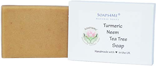 SOAPS4ME Turmeric, Neem & Tea Tree Natural Handmade Soap (1pc) | 100g | with Shea Butter and Aloe Vera gel