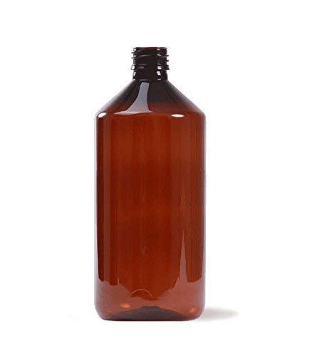 Essenciales - Botella Plástico, 1 Litro, Color ÁMBAR uso Farmacéutico y Alimentario - Tarifa Plana envíos | Botella Plástico para Aceites Esenciales, Hidrolatos, Aguas Florares y Fragancias