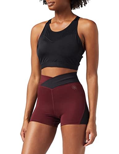 Amazon-Marke: AURIQUE Damen Sportshorts, Schwarz (Port/Schwarz), XS
