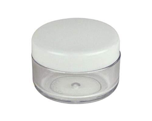 25 PCS 15ML 0.5OZ Transparent Boîte De Bouteille De Crème En Plastique Transparent avec Bouchon À Visser Émulsion Masque Poudre Distribution Pot Portable DIY Cosmétique Conteneur