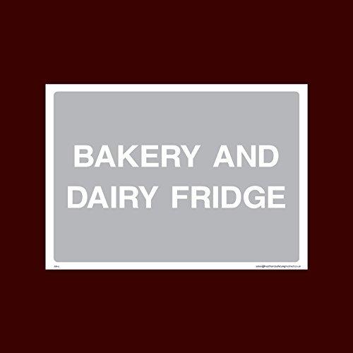 Bakkerij en Zuivel Koelkast Sticker Teken - Ruw, Gekookt, Bereiding, Vis, Voedsel, Handen wassen (Fp11)