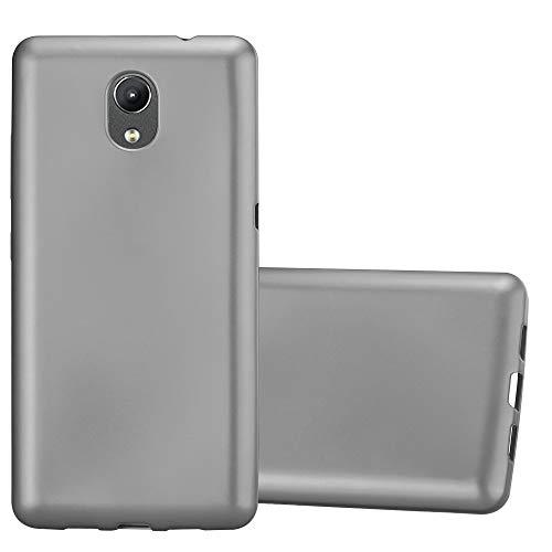 Cadorabo Funda para Lenovo P2 en Metallic Gris - Cubierta Proteccíon de Silicona TPU Delgada e Flexible con Antichoque - Gel Case Cover Carcasa Ligera