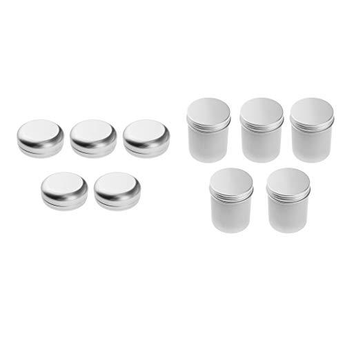 MERIGLARE 10pcs Estuche De Estaño Vacío para Loción Barra Jabón Cabello Cera Piel Hidratantes Aluminio
