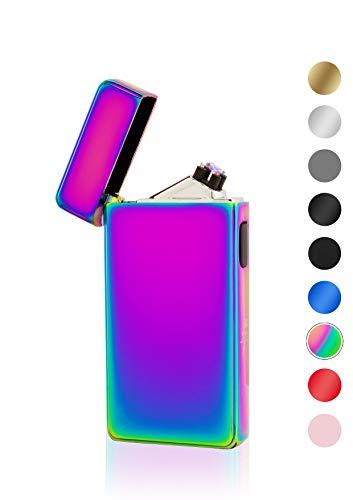 TESLA Lighter TESLA Lighter T13 Lichtbogen-Feuerzeug, elektronisches USB Feuerzeug, Double-Arc Lighter, wiederaufladbar, Regenbogen Regenbogen