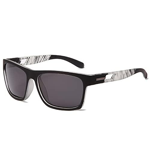 baidicheng Gafas de sol MMen Square Polarizadas Gafas de sol para hombre con revestimiento de conducción UV400 (Lenses Color: 03)