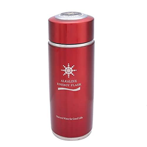 Okuyonic Botella de Nano Equilibrio La Botella de Agua alcalina Mantiene el Equilibrio ácido-Base para Viajar y Regalar(Red)