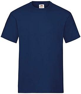 Fruit of the Loom Men's Valueweight Short Sleeve T-Shirt Pack of 5, Navy, X-Large (B00K4SATVI) | Amazon price tracker / tracking, Amazon price history charts, Amazon price watches, Amazon price drop alerts