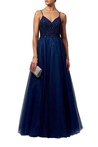 Mascara Marine Blau Mc11924 Tüll Prom Kleid 30