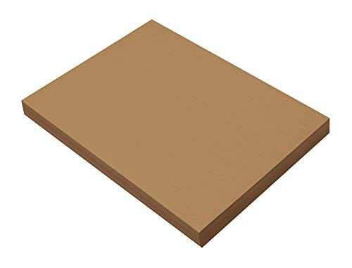 SunWorks Heavyweight Construction Paper, 9 x 12 Inches, Light Brown, 100 Sheets