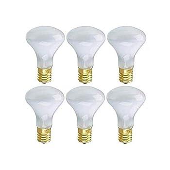 Pack of 6 -Lava lamp Replacement Bulb Dimmable 40Watt R14 Shape E17 Intermediate Base