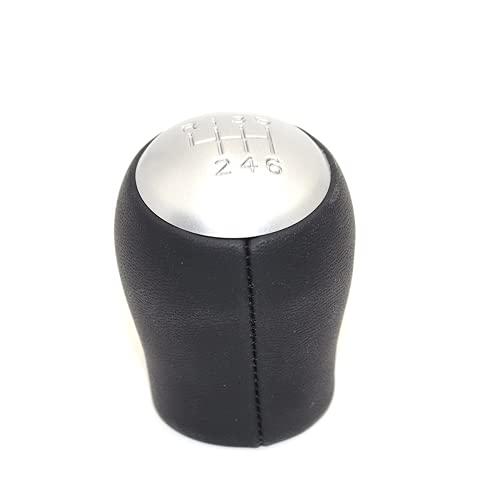 KPLDEKLC Pomo de Cambio Manual de Cuero de 6 velocidades para Coche, pomo de Cambio de Balonmano MT, para Nissan Qashqai X-Trail 2006 a 2013
