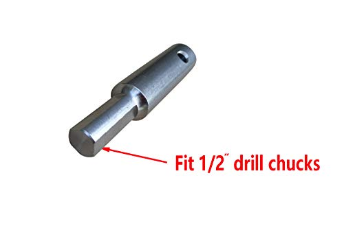 Brocraft Precision Ice Auger Adapter - Stainless Steel - Fits 1/2'' Chuck/Electric Ice Drill Adapter