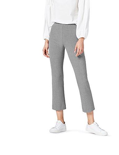 find. Pantalón de Campana por Media Pierna para Mujer , Gris (Mid Grey), 40 (Talla del Fabricante: Medium)