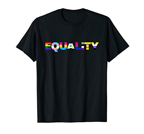 Equality LGTBQ Pride Flag Design T-Shirt